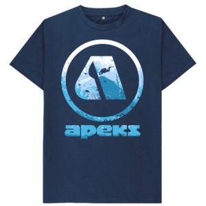 Men's Apeks Logo T-shirt Blue